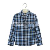 Top and blouses 2016 child garment kid boy plaid shirt with pure cotton
