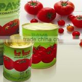 canned tomato paste with good quality fresh tomato paste production line