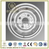 Sliver color steel wheel rim and small car rim