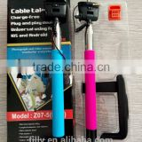 2016 wired Selfie stick with audio cable for iphone 6s