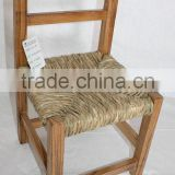 Haixin HX12-370 Natural Ladder Back Wood Stool