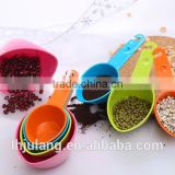 High quality colorful plastic 4pc measuring spoon set