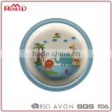 SGS certificate food safety animals printing plastic baby food plate, melamine children dishes