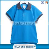 High quality plain cotton design boys polo shirts wholesale China factory