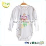 China cotton white babies nightwear/baby layette/baby bodysuit