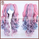 Japanese Anime Long Curly Heat Resistant Synthetic Lolita Cosplay Wigs