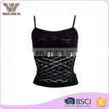Customsize colors high quality plus size cheap ladies camisole lace trim