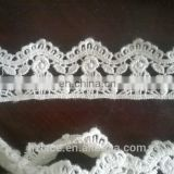 narrow beautiful cotton lace trim for garment decoration