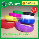Newest silicone bracelet with light led light bracelet for party silicone led light bracelet for party