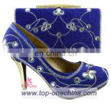 Italian shoe and bag/afircan lady shoe and bag/high heel fashion italian wedding shoes