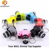 Simulation SLR camera modeling key pendant LED luminous sound cartoon bag ornaments key ring small gifts