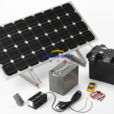 200W Solar Panel Kit Solar Home system with Adjustable Frames, 20A Dual Battery Charge Controller