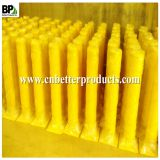 yellow powder coated steel pipe for street