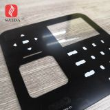 custom touch glass 0.7mm thickness chemical strengthened for Access control with face recognition door intercom system