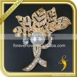 Women dresses pearl crystal decoration large vintage rhinestone brooches wholesale FB-073