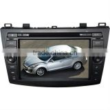 High definition wince 6.0 car navigation system for Mazda 3 with Bluetooth/IPOD/GPS/3G/subwoofer/mp4/dvd