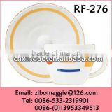Zibo Produced Popular Good Quality Ceramic Coffee Cup and Saucer with Wholesale Price for Tableware for Daily Use