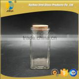 285ml Hot Sale Square Shape Clear Glass Candle Jar