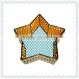 star-shape yellow bamboo hand-woven basket wholesale christmas decorations
