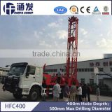 400 meters depth HFC400 truck mounted water drilling machines installed on truck chassis price