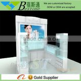 Custom made free standing display case for cosmetic shop furniture