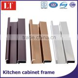 Cabinet frame extruded aluminum profile for kitchen cabinet kitchen g handle aluminum profile