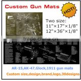 Hot sale new design custom AR-15,AK47,Glcok,Beretta92 gun cleaning mat,gun mat for rifle & pistol preparing and cleaning                                                                         Quality Choice