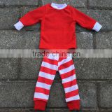 2016 wholesale kids clothes christmas pajamas sets baby striped kids pajamas outfit kids fall winter outfits