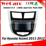 Wecaro WC-HU7202 Android 4.4.4 car multimedia system 2 din for hyundai accent car radio stereo bluetooth 2011-2014