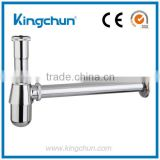 China Manufacturer Cheap Chrome Plated Bottle Trap Brass Waste Siphon Sink Basin Accessories (J281-2)