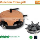 easily cooking electric pizza oven, bbq grill, raclette function