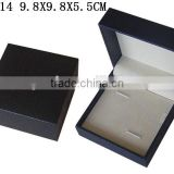 Customized Leatherette Paper Packaging Plastic Cufflink Gift Box with Velvet Insert Wholesales T514