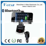 Universal bluetooth car holder with charging, bluetooth handsfree and car charger 3 in 1 functions
