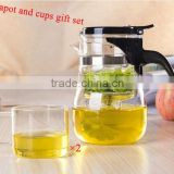 SAMADOYO High-end Clear Glass Teapot And Cups Gift Set For Brewing Tea