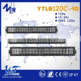 spot flood combo beam 21.5 inch IP67 high powerful LED light bar for 4x4 12 24v made in china 120w led light bar 4D