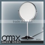 birthday's gift brass 2 sides free standing table vanity makeup mirror