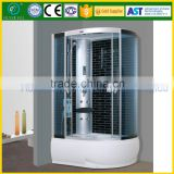 Enclosed steam shower room with frame ABS tray portable