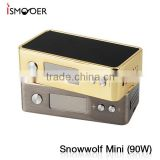 Royal gold mini snowwolf 90w limited edition e cigs vapor kits snowwolf 90w tc vapor box mod