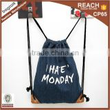 SP0048 Wholesale Cotton Gym Sack Drawstring Bag
