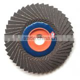 80-320grit 4inch 100mmx 16mm korea style flower-shaped flap disc calcined alumina Flexible Flap Disc