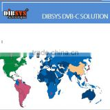 Professional cable tv digital headend solution DVB-C solution for Europe Asia and South America