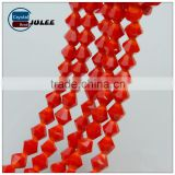 Hot selling red mix color bicone beads crystal loose beads free size Factory direct sales faceted beads for wedding dress
