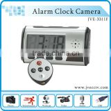 JVE-3311F Alarm Clock camera for home security with mini HD digital camera webcam and motion detection