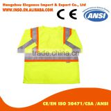 china safety vest OEM strap safety shirt summer reflective safety shirt work shirt