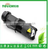 mini body design led flahslight zoomable attack head flashlight super waterproof for 14500 battary cheap falshlight