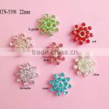 STOCK new snowflaker rhinestone embellishment flatback for wedding decoration or hair accessory(BTN-5398)