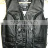 Men Motorcycle leather vest/Custom Fashion Mens Biker/Motorcycle Leather Vest/Leather Waistcoats/leather vest/