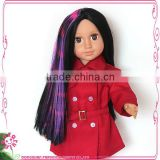 colorful synthetic doll wig for 18 inch dolls