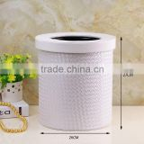 Household cleaning appliances PU trash can / top trash frame / hotel guest room PU rubbish bag