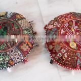 khambadiya vintage fabric floor cushion / sofa seat cushions / indian handmade ottoman